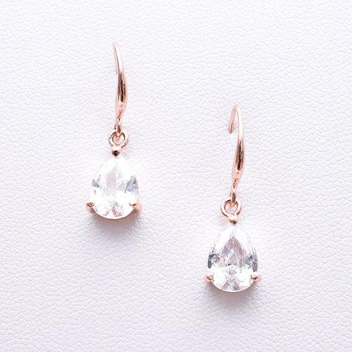 The Traditional Teardrop Earrings, Rose Gold