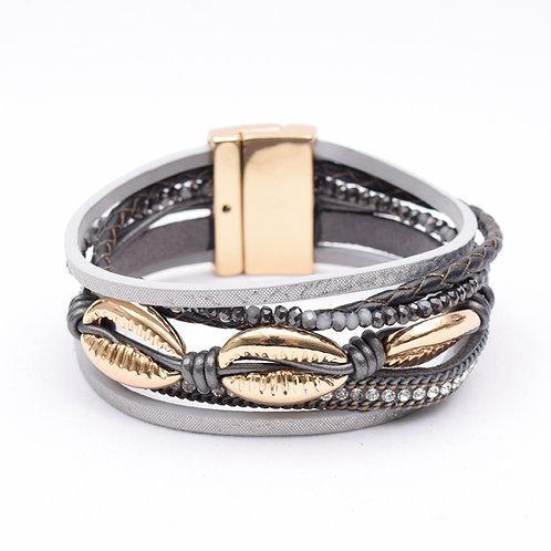 The Shelly Leather Bracelet