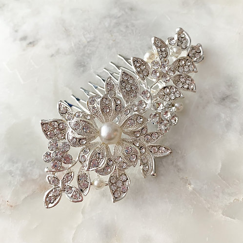 The Claire Hair Comb, Silver