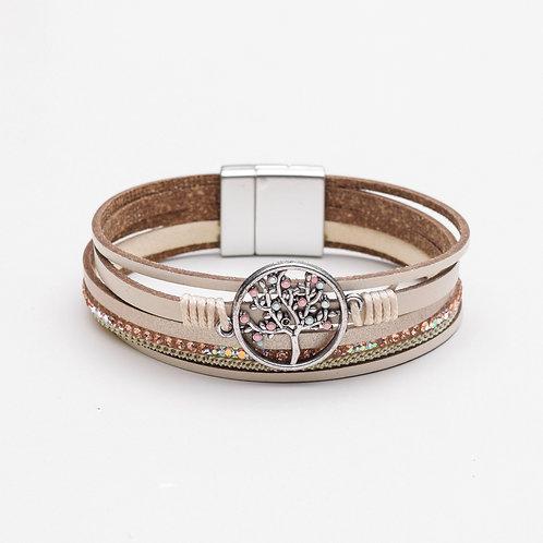 Locust of Leather Bracelet