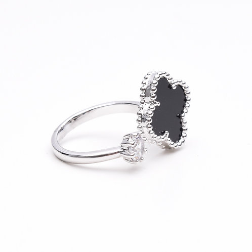The Onyx Clover Ring