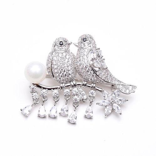 Love Doves Brooch