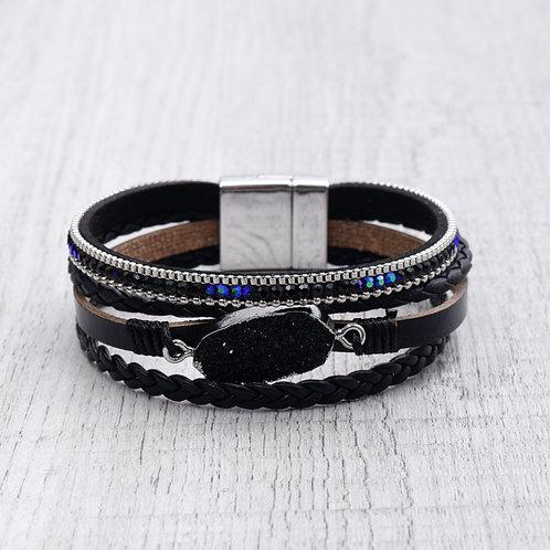 Braided Druzy Bracelet