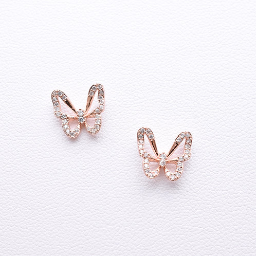 The Beautiful Butterfly Stud, Rose Gold