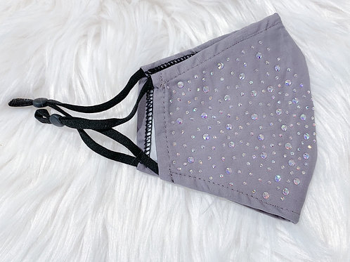 The Bedazzled Grey with AB Crystal