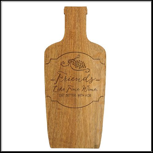 """Wine Friends - 5.25"""" Acacia Cheese/Bread Board Set"""