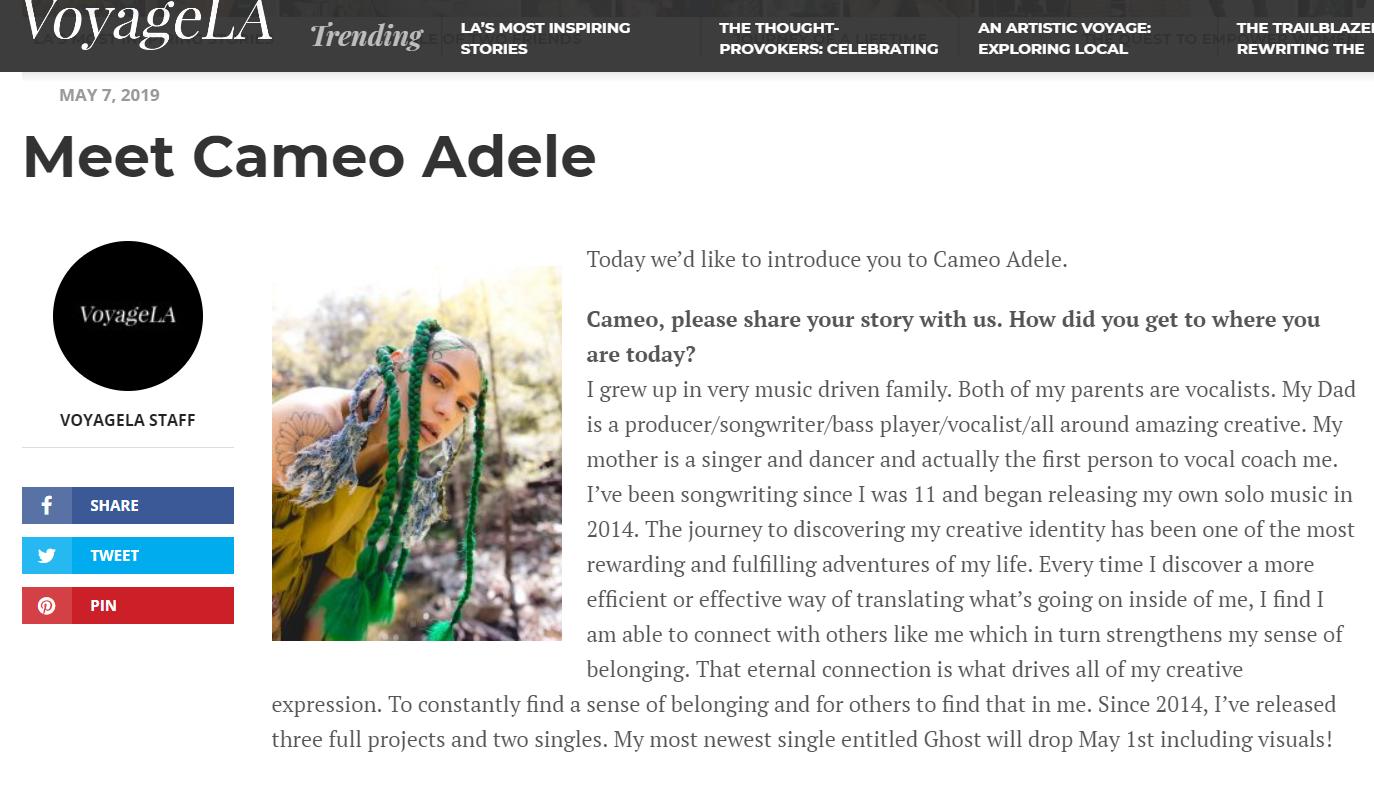 Meet Cameo Adele