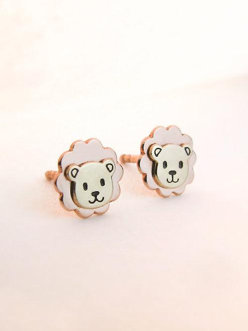 BABY LION EARRINGS