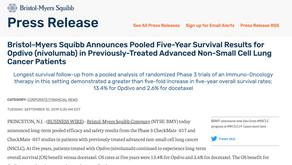 (肺癌)服用保疾伏五年的總生存率為?