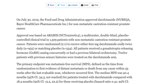 (攝護腺癌 )darolutamide的推薦用量為?