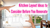 Kitchen Layout Ideas to Consider Before You Renovate