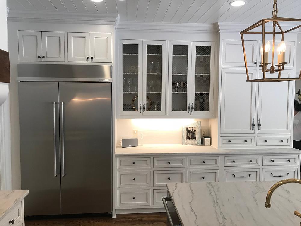 modern kitchen layout prep zone mccarley cabinets