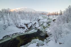 Rivière gelée - Ile de Senja Norvège