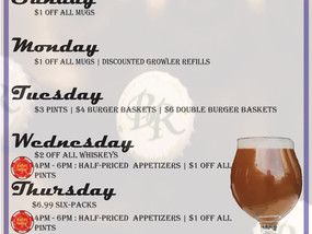 Updated Daily Specials