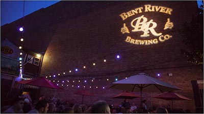 Bent River's Moline Brew Pub Patio