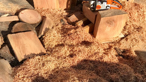 Cutting blanks & storing wood