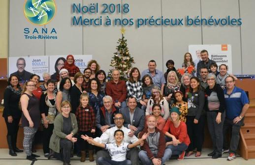 Les bénévoles de Noël 2018