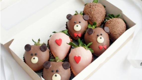 Клубника в шоколаде «Влюблённый мишка 3»