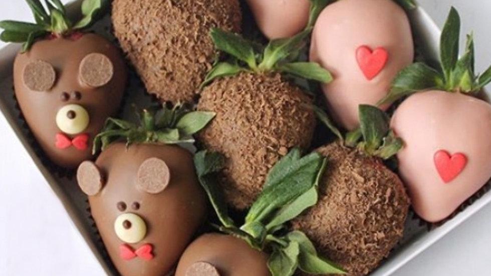 Клубника в шоколаде «Влюблённый мишка2»