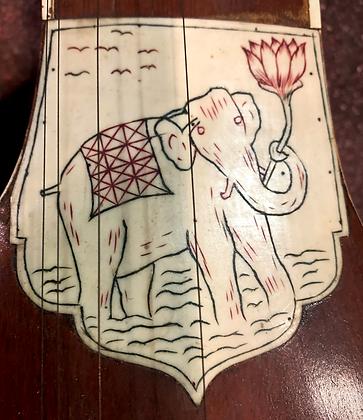 1960s Tarabless Anonyme Sitar with Elephant Striker
