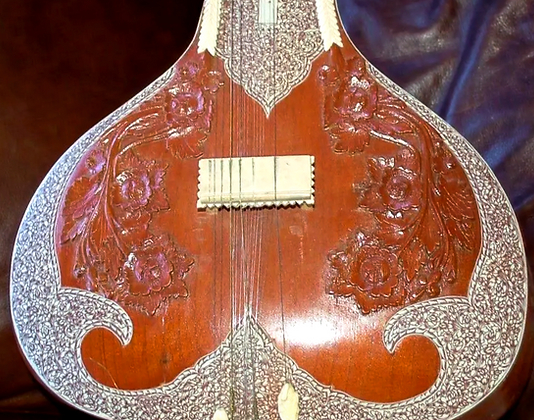 BHC Kharaj Pancham Sitar with Wide Binding & Extensive Penwork