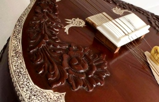 2004 JK Sengupta Full Decoration Rose Carving Sitar