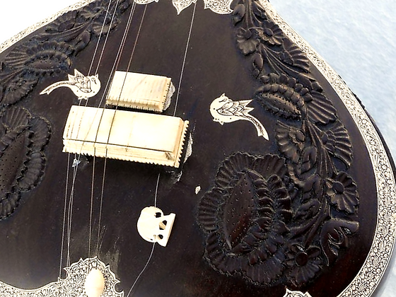 Mrs. RK Sharma Lotus Carving Sitar