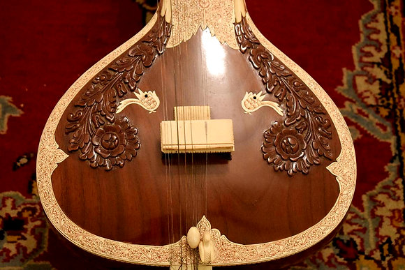 2004 Hiren Roy Sitar Barun Ray Full Decoration Tan Label