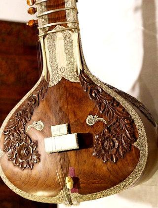 1980s Hiren Roy Barun Ray Full Decoration Sitar