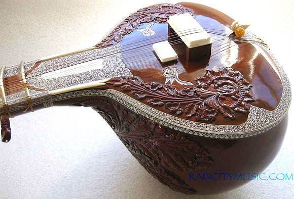 1990s JK Sengupta Blue Label Sitar from Rain City Music
