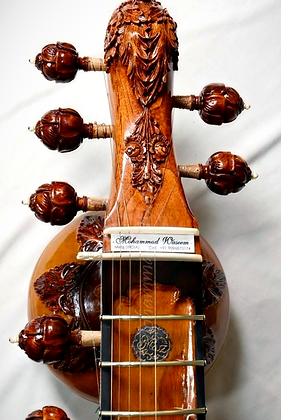 2015 Mohammad Waseem Full Carving Surbahar with Curved Ebony Jawari