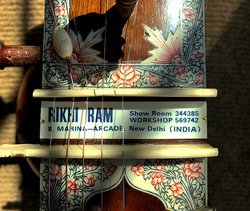 1970s Rikhi Ram Sitar Blue Label with Blue Penwork