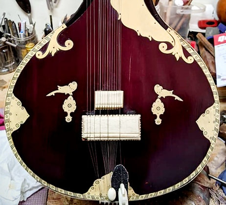 Mid-20th Century Sher Mohammad & Sons Sitar