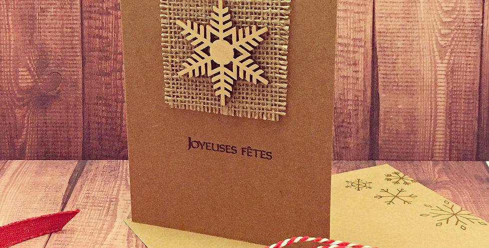 Cartes & enveloppes paquet de 6: Flocon de bois