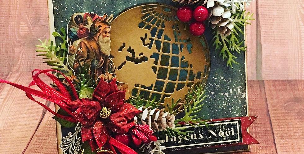 Carte dimensionnel: Père Noël autour du monde