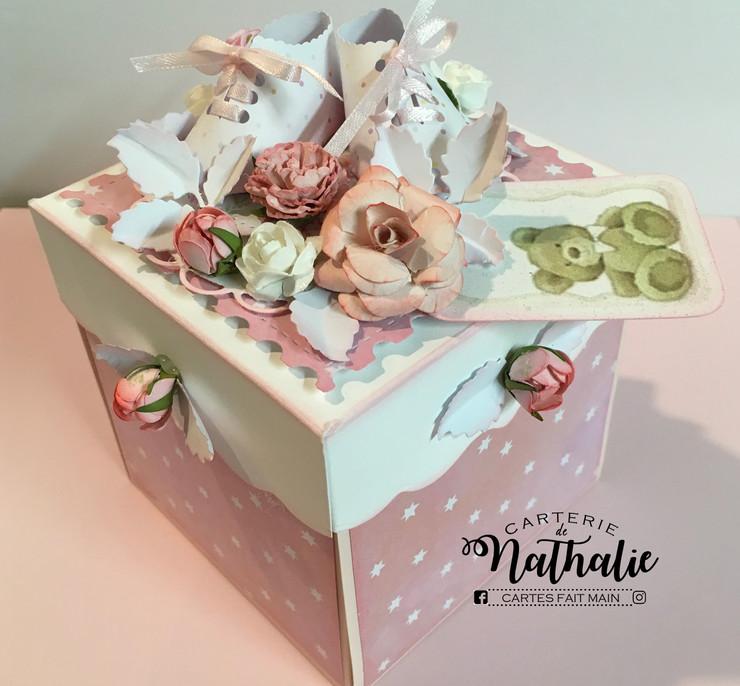 Boite Explosion Box- pour carte cadeau (thématique bébé) $20