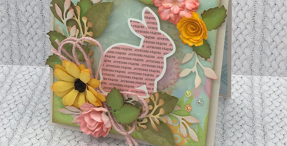 Carte de Pâques CD-PQ-LAP-ROSE