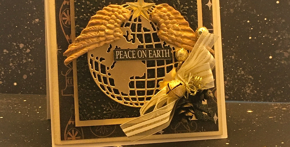 Carte collection dimensionnel CD-NOËL-PEACE-EARTH