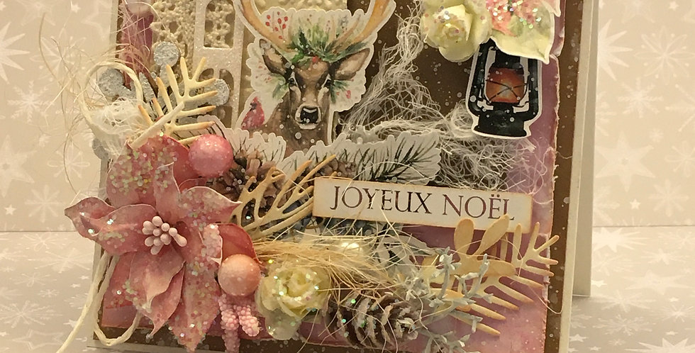 Carte collection dimensionnel CD-NOEL-CERF-ROM-RS