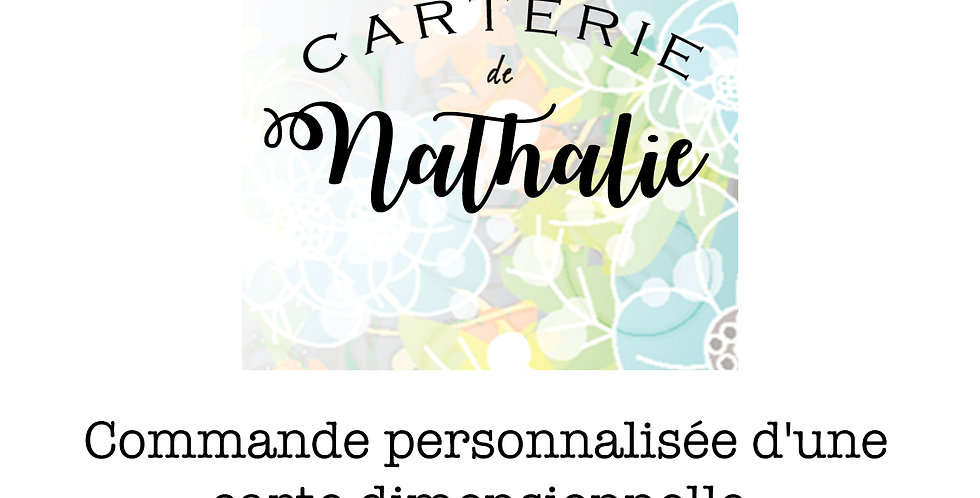 Carte collection dimensionnel CD-COMMANDE PERS