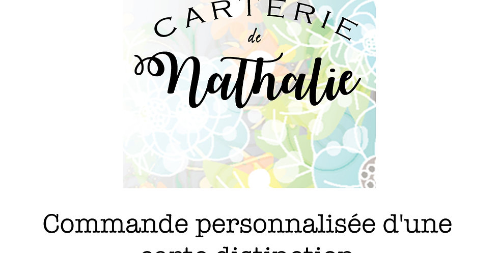 Carte collection distinction CR-COMMANDE PERS