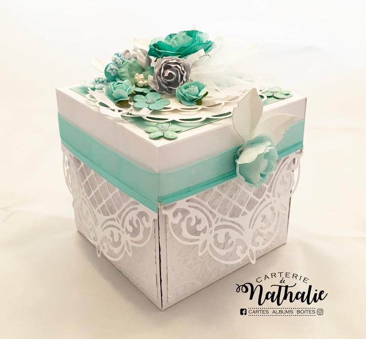 Boite explosion pour carte cadeau. (Thématique mariage) $20