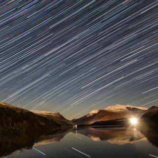 Star Trails over Padarn