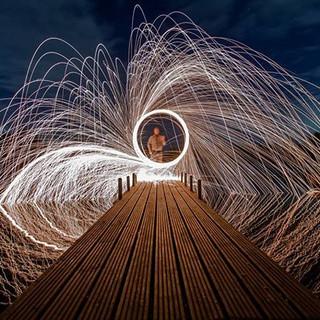 #fire #wirewool #wire #wool #nightshoote