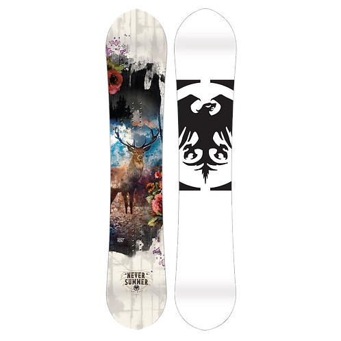 Never Summer Women's Lady West Snowboard 2020