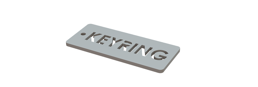 Keyring - Customisable Text