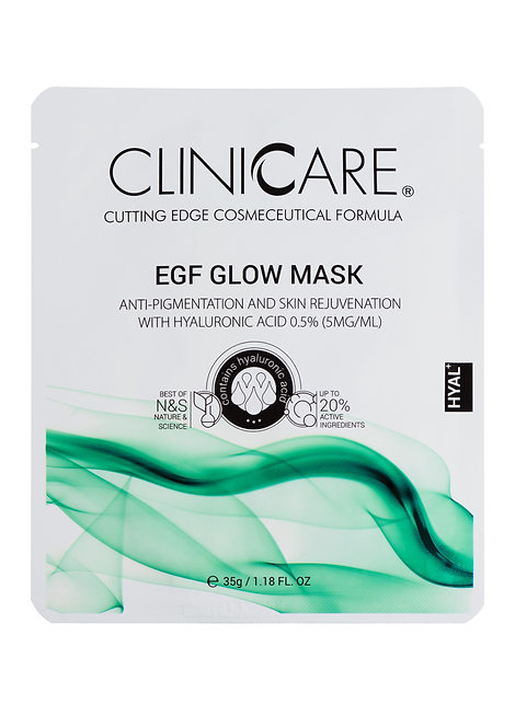 EGF Glow: Anti-Pigmentation & Skin Rejuvenating Tiusse Mask with Hyaluronic Acid