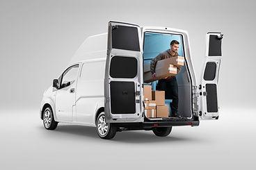 Voltia-Back View-Open Door-Delivery Guy.