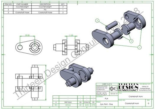 Thirteen Design Consultancy 3D Solidworks CAD Modelling & 2D Production Drawings