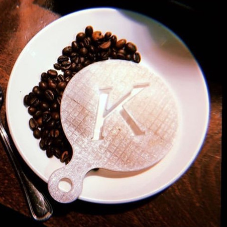 3D Printed Custom Coffee Stencil